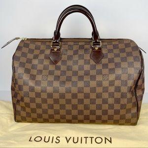 Authentic Louis Vuitton Speedy 35 Damier Ebene